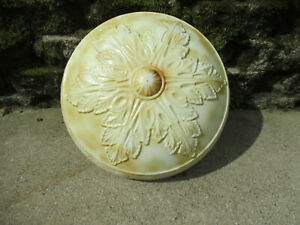 Light Shade Ceiling Mount Antique Victorian LARGE Satin Glass White Brown Cream