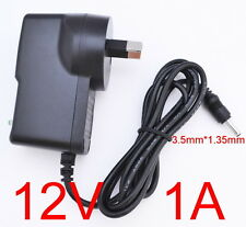 AC 100-240V Converter Adapter DC 12V 1A 12W Power Supply 1000mA 3.5mm x 1.35mm