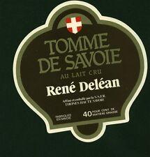 Etiquette de Fromage  Tomme de Savoie René Deléan  No 103