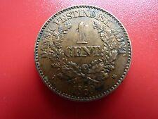 Frederik VII 1860 Dansk Denmark West Indies 1 Cent  Very Rare in this Grade