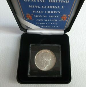 1917 HALF CROWN GEORGE V SILVER COIN SPINK REF 4011 CROWNED SHIELD BOX & COA
