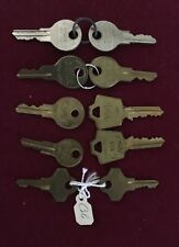 10 keys inc 8 Cole File Cabinet or Office Furniture key +2 for Hon Lateral File