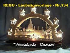 """+ REGU - Laubsägevorlagen Nr.134 - """" Frauenkirche DRESDEN """" in zwei Größen +++++"""