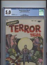 Beware Terror Tales #1 CGC 5.0 Bob Powell art Fawcett Publications 1952