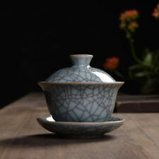 Longquan Celadon Porcelain Gaiwan Crackle Glaze 100ml 3.38 oz