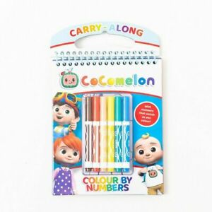 Cocomelon Colour By Numbers Set Carry Along Children's Colouring Activity & Pens