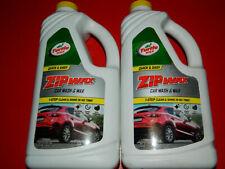 (2) TURTLE WAX ZIP WAX T-79 CAR WASH & WAX 64 OZ BOTTLES 1 STEP CLEAN & SHINE