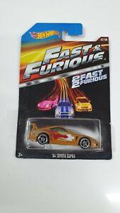 Hot Wheels Fast & furious Movie car Gold 94 toyota supra 02/08 2 fast 2 furious