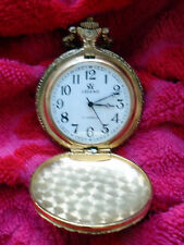 Legend 17 Jeweis goldig Pocket Watch In Working Order Sprungdeckel mechanisch..