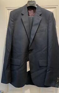 PS Paul Smith 2 Piece Modern Fit Suit Navy Blue UK 36 EU 46 BNWT Euros