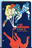 1974-75 Quebec Nordiques Yearbook EX 022817nonjhe