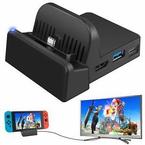Ponkor Docking Station for Nintendo Switch, Charging Dock 4K HDMI TV Adapter