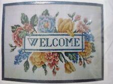 Anne Benson NIP Gourmet Craft KIT #C033 Welcome Counted Cross Stitch Wool Yarn
