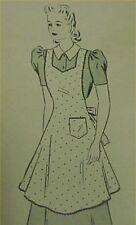Vintage Bib Apron Full Size Pattern Bust 42 Coverall Style 1940s Era Sew Project