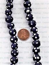 Cobalt Horned Raised Eye Trade Beads  Antique  10 Pcs    BIN  G
