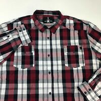 I Jeans by Buffalo Button Up Shirt Men's 2XL XXL Long Sleeve Plaid Casual Cotton