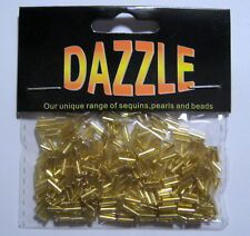 8g GOLD Glass Bugle Beads approx 4-6mm long 200+ per pack
