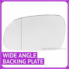 Left hand passenger side for VW Fox 2003-11 Wide Angle wing mirror glass + plate