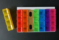 Pillen-Box Tabletten Box Tablettendose Medikamentenbox 7 Tage x 4 Fächer pro Tag