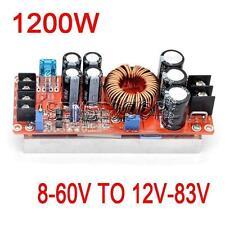 1200W 20A DC Konverter Boost Step-up Stromversorgungsmodul 8-60V 12-83V -40 +85