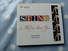 Sting Mad About You /Live Ltd Edition Numbered 3 Track Foldout Digipak CD