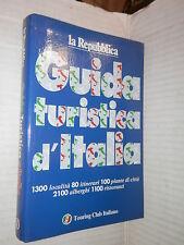 GUIDA TURISTICA D ITALIA La Repubblica TCI 1996 libro viaggi manuale corso di