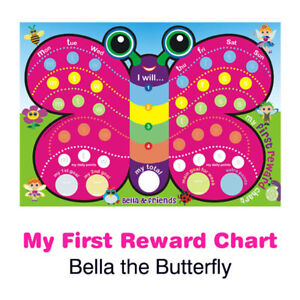 Bella Butterfly My First Reward Chart Magnetic with matching Stickers & Pen