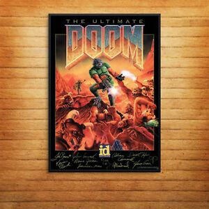 Doom Retro Game Cover Signatures Console 90's Print Poster A4 A5 A6 A3 -1055