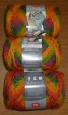 Lot of 3 Skeins, Red Heart Colorscape Yarn, 3.5 oz, 187 yds, Acapulco