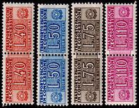 1953/55 - Pacchi Concessione filigrana ruota - nuovi (MNH) - Sassone nn.1/4