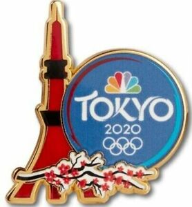 Dated 2020 Tokyo NBC Tokyo Tower Olympic Media Pin