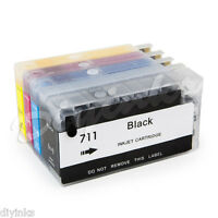 Non-OEM Refillable Ink Cartridges SET For HP 711 Designjet  T120 T520 Hp711
