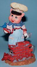Madame Alexander resin doll figurine, 3 Little Pigs, Pig with Bricks, #91305 NIB