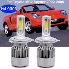 Car H4 9003 LED Headlight Kit Bulbs For Toyota MR2 Spyder 2002-2000 Hi/Low Beam