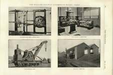 1895 Midland Railway Works Derby Breakdown Crane CHARBON CHARGEMENT Testing Bureau