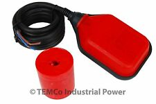 TEMCo Liquid or Water Level Float Switch Sensor Sump Fluid Tank NO/NC Controller