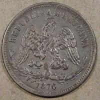 Mexico 1876-Go S 25 Centavos Nice Better Circulated Grade Coin