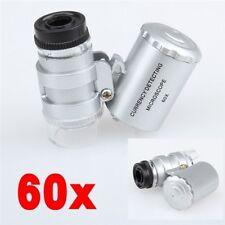 Mini Microscopio 60X con LED Grow Tent Hidroponía Lupa inspección de plantas