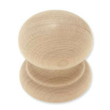 "P10520C-BIR  Birch Wood 1 3/4"" Large Round Cabinet Drawer Knob"