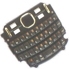 100% Original Nokia Asha 201 DELANTERO Teclado QWERTY GRIS llaves BOTONES