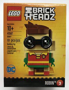 Lego Brick Headz Robin 41587 DC Comics Super Heroes Retired - New Factory Sealed