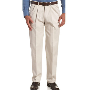 """Haggar Work to Weekend Hidden Expandable Waist Pleat Front Pant Size 60""""W X 34""""L"""
