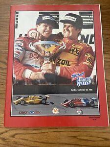 1985 Detroit News Grand PrIx At Michigan Cart/Indycar Racing Program