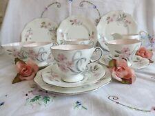"BEAUTIFUL VERY RARE E.BRAIN FOLEY ""SYLPHIDE"" by Donald Brindley PINK TEA SET"