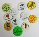 11 Shriner Pinback Clown Love Mohammed Temple Vintage Buttons Slept with A
