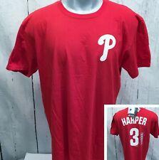 PHILADELPHIA PHILLIES Bryce Harper #3 NWT MLB Players XL T Tee Shirt Red NEW
