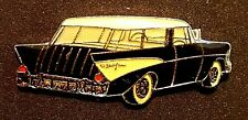 ^^^VINTAGE OFFICIAL CHEVROLET CHEVY 1957 WAGON GM GENERAL MOTORS  PIN BADGE