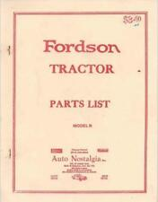 Fordson Model N Parts List Catalog Free Download Price List Manual Brochure Tt