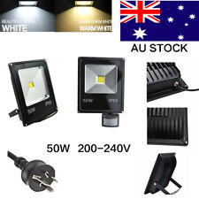 LED Flood Light 50W Cool/Warm white Garden 240V FloodLight IP65 AU Plug Spot