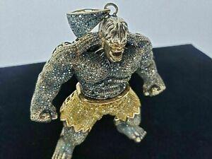 8Carat Diamond Angry Hulk Customized Charm Pendant Men's 14K Gold Over